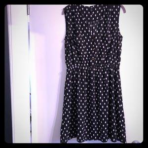 Black and White polka dot casual dress